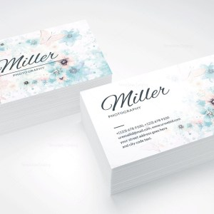 White Photography Business Card Design