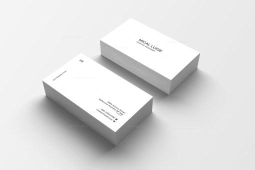 Plain Print Business Card Design