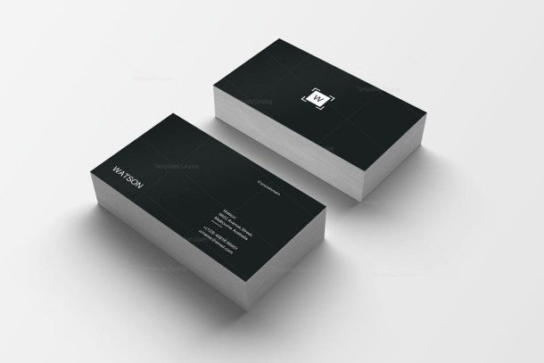 Plain Print Business Card Template