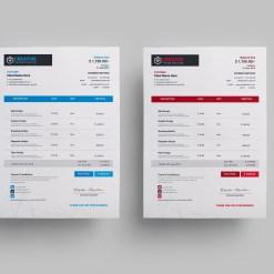 Creative Modern Invoice Design