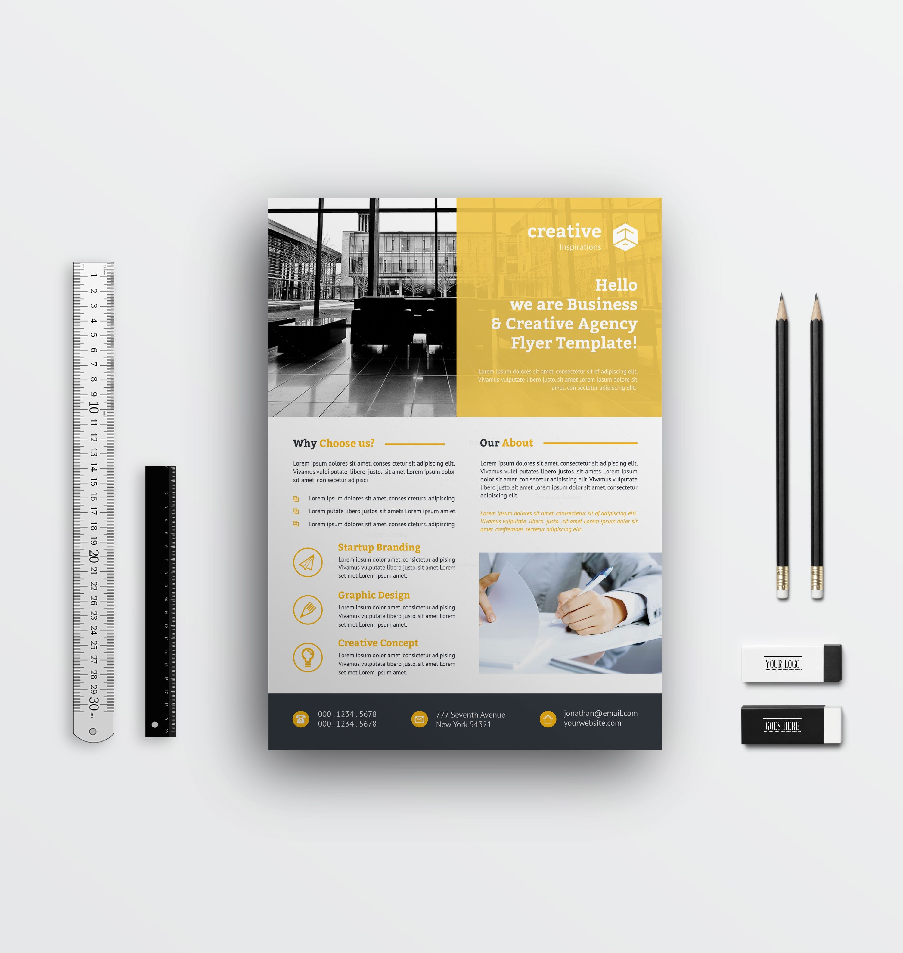 simple corporate flyer designs 002787
