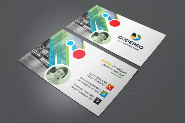 PSD Colorful Business Card
