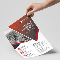 PSD Minimal Flyer Design