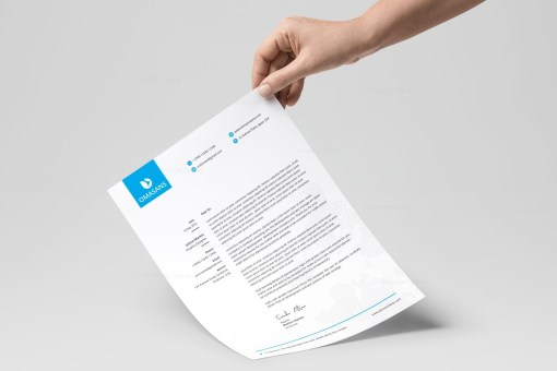 Classy Corporate Letterhead Design