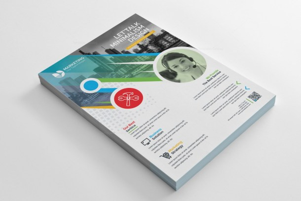 PSD Colorful Flyer Template
