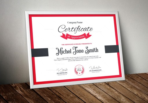 Excellent Certificate Design Template