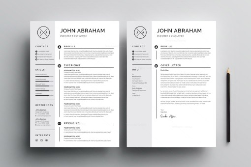 Grayish Resume Design Template