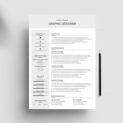 Grey Resume Design Template