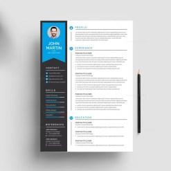 Modern Print Resume Template