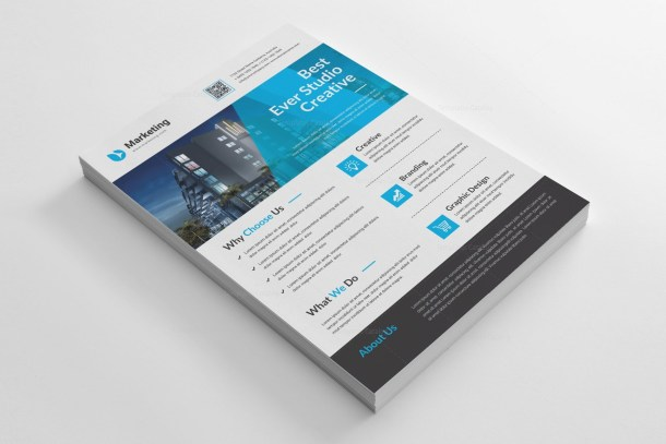 Modern A4 PSD Flyer Template