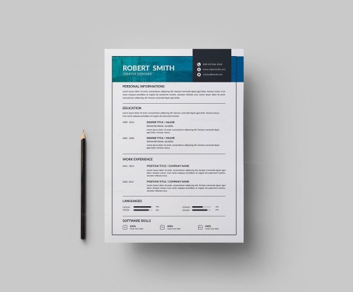 Modern Vector Resume Template