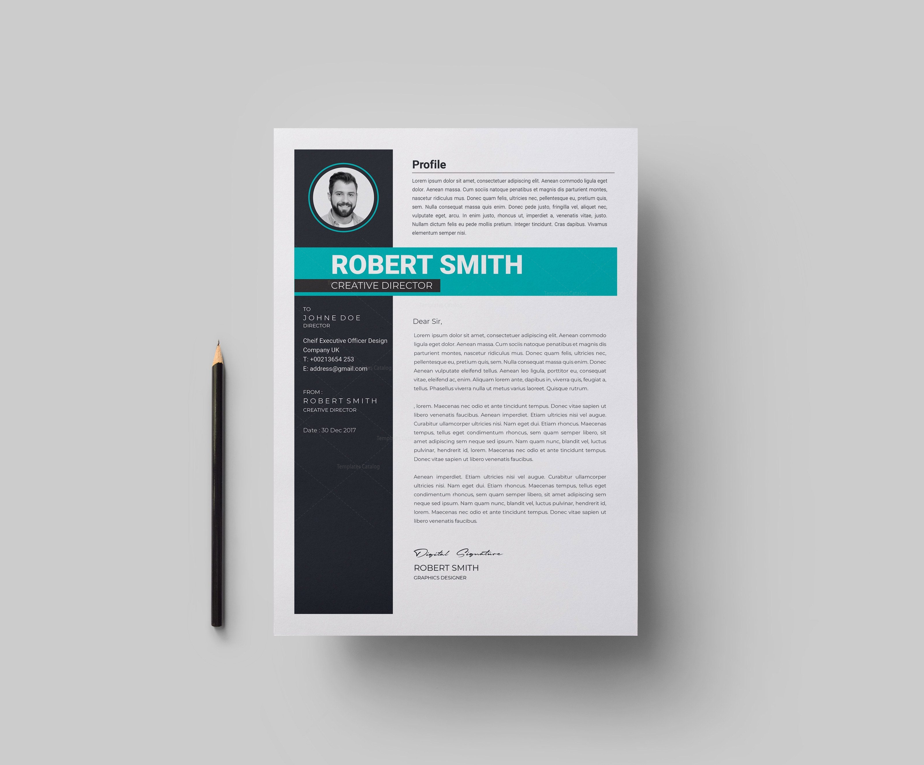 Contemporary Resume Template 002998 - Template Catalog