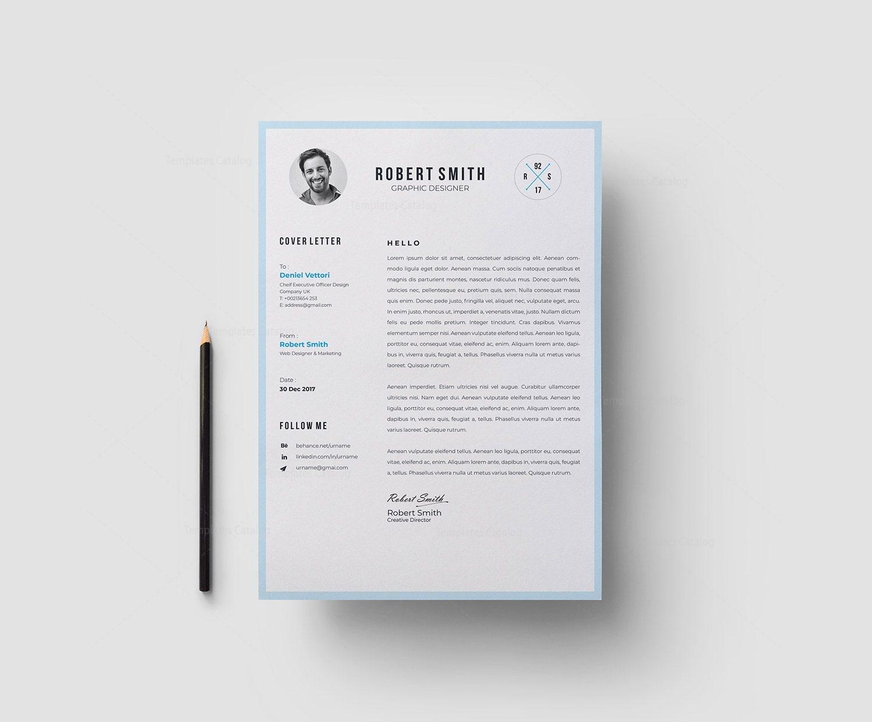 EPS Minimalist Resume CV Template 003052