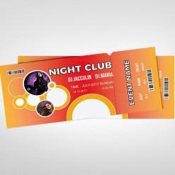 Club Event Ticket Design