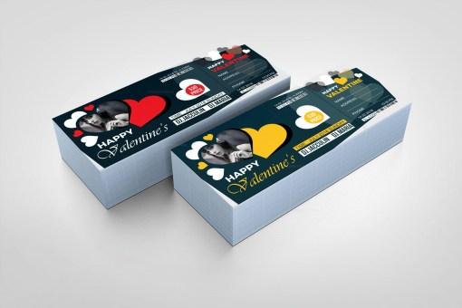 Valentine Event Ticket Design