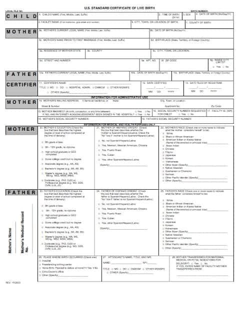 Birth Certificate Template 29641  Online Birth Certificate Maker