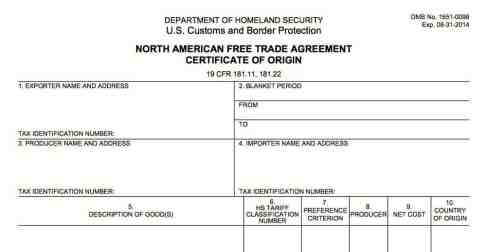 Certificate of Origin example 20.941