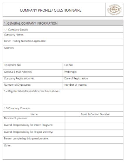 Company profile template 200