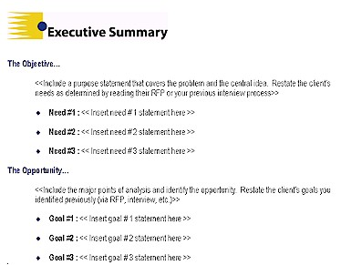 Executive Summary Example 6941  Executive Summary Proposal Example