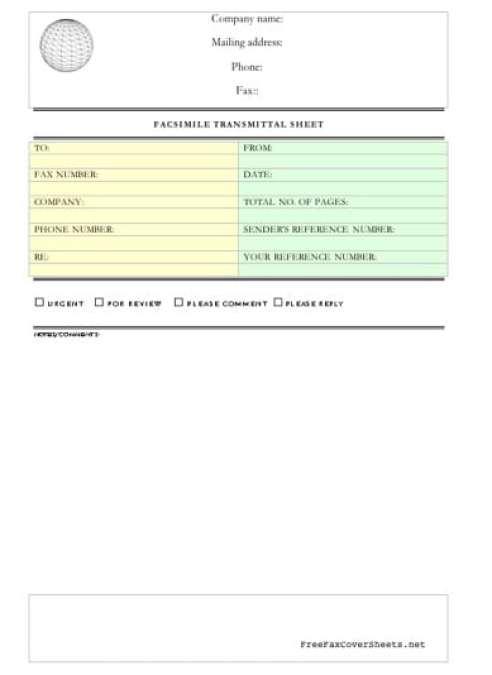 Fax Cover Sheet Templates 1244