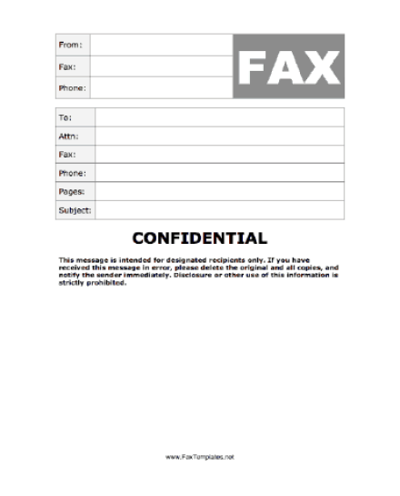 Fax Cover Sheet Templates 39641