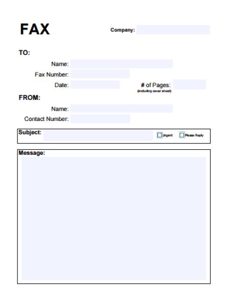 Fax Cover Sheet Templates 6841