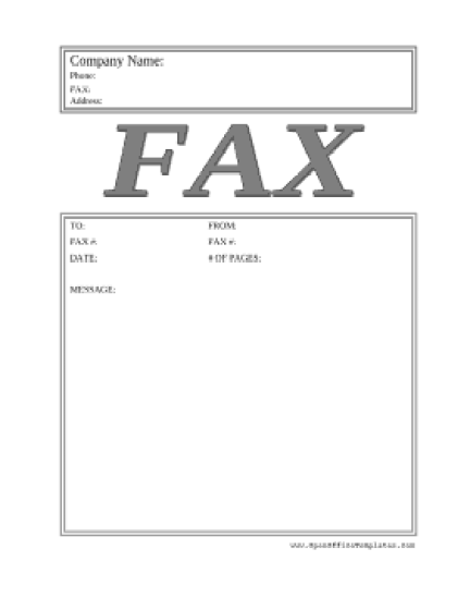 Fax Cover Sheet sample 11.641