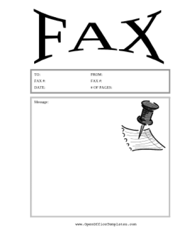 Fax Cover Sheet sample 7941