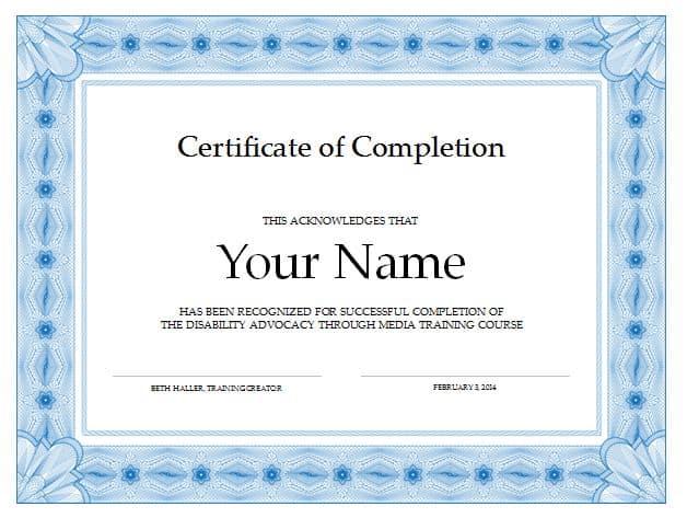 Free Training Certificates. Training Certificate Template - Free ...