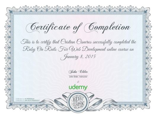 Free Certificate of Completion example 13.941