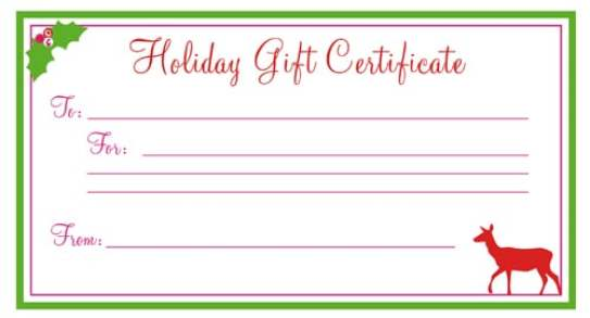 Free Gift Certificate sample 123941