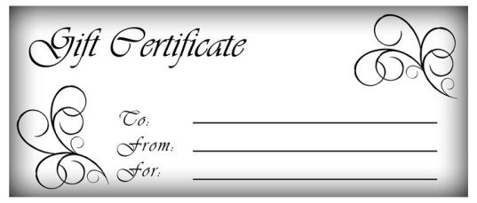 Free Gift Certificate sample 13.41