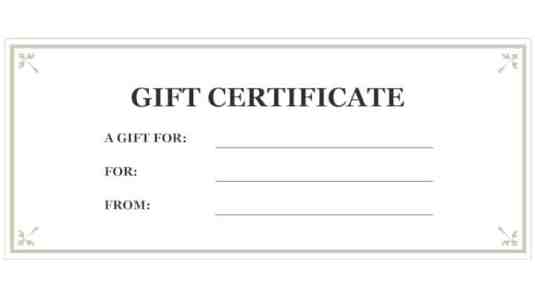 Free Gift Certificate sample 16.94