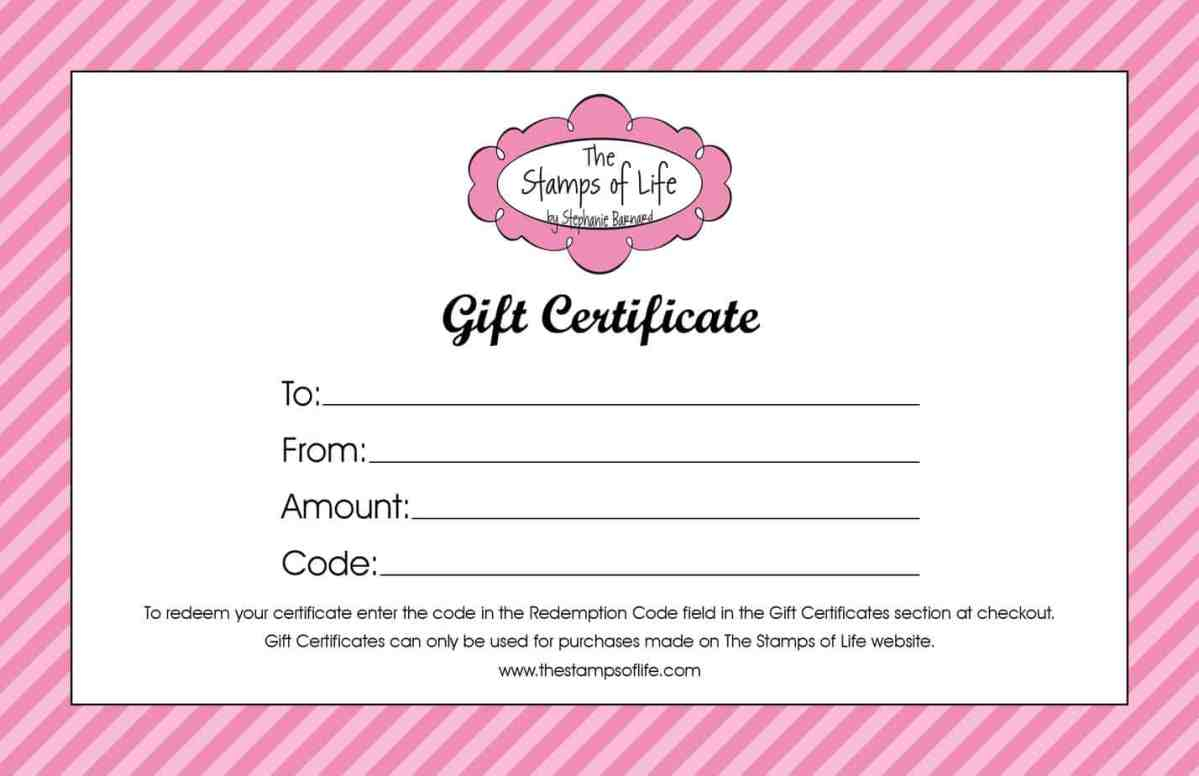 free editable gift certificate template