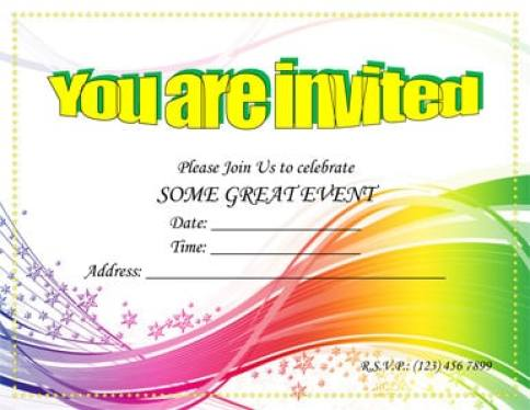 free template for party invitation