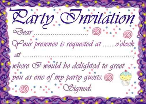 Free Party Invitation Template 74941