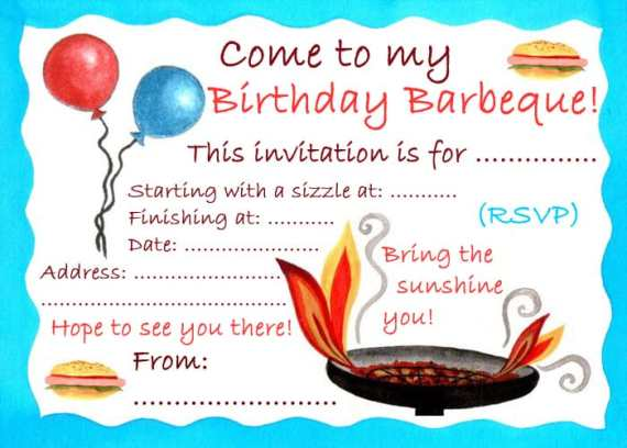 Free Party Invitation Template 8974