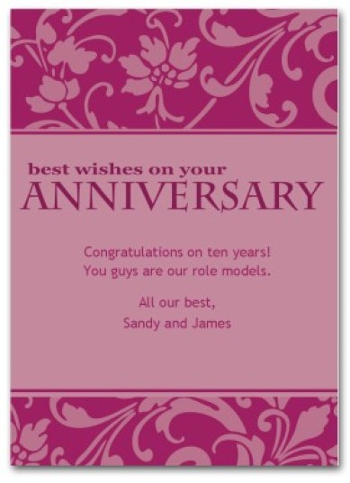 Happy Anniversary Card 89774