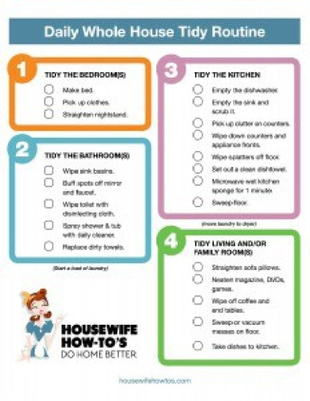 House Cleaning List Template 49741