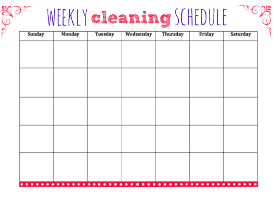 House Cleaning List example 27.64