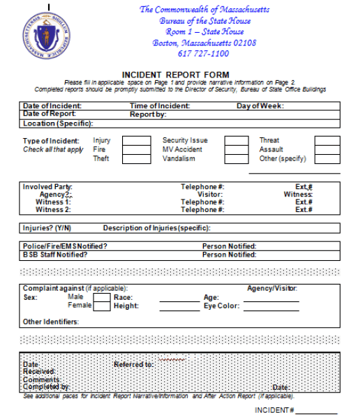Incident Report Template 5941