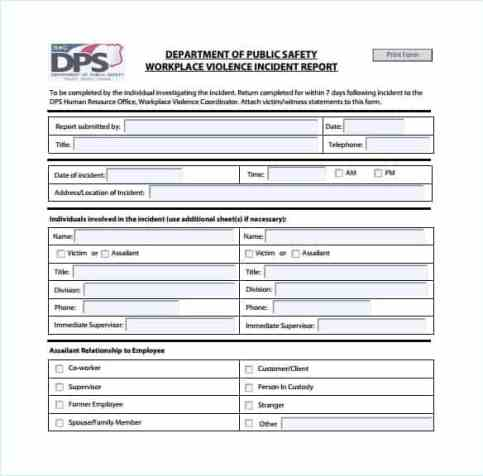 Incident Report sample 5941
