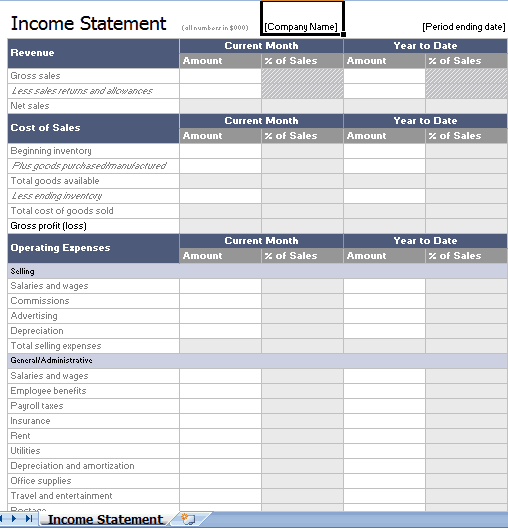 21  free income statement templates in word excel pdf