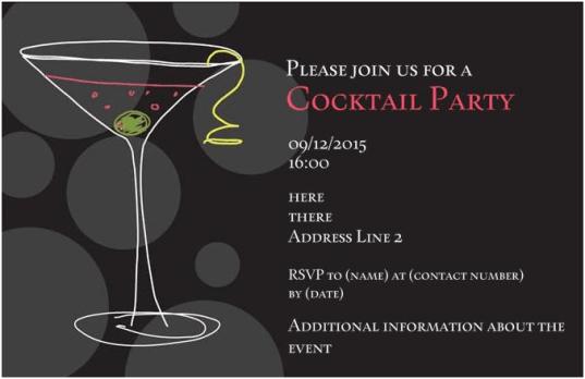 Party Invitation example 39641