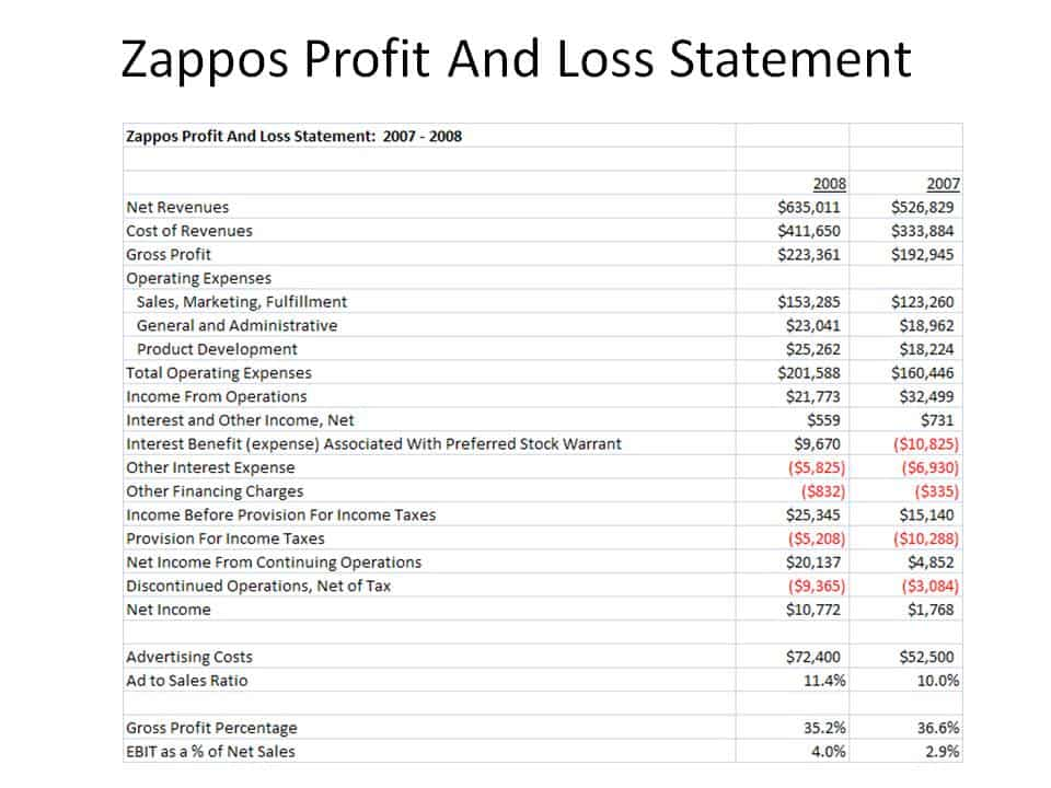 Profit And Loss Statement Sample 2941  P And L Statement Template