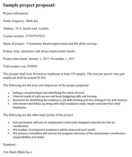 Project Proposal sample 15
