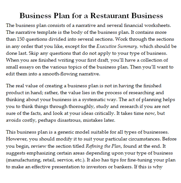 32 free restaurant business plan templates in word excel pdf restaurant business plan template 2941 flashek Image collections