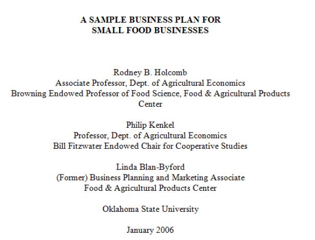 Restaurant Business Plan Template 3941