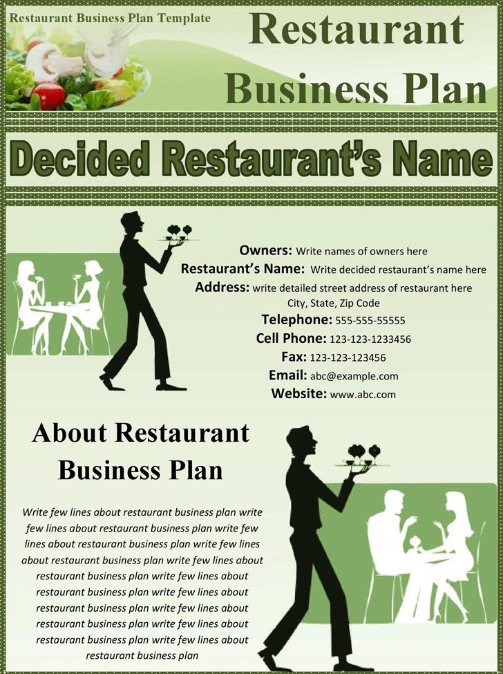 restaurants business plan sample