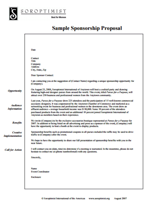 21+ Free Sponsorship Proposal Template - Word Excel Formats
